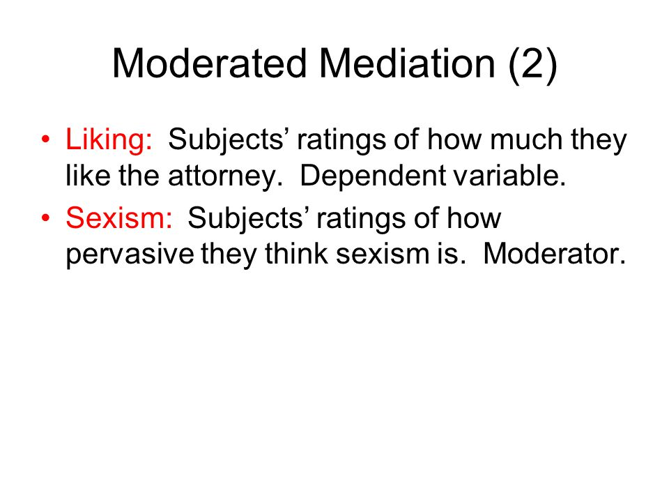 Moderated Mediation (2)