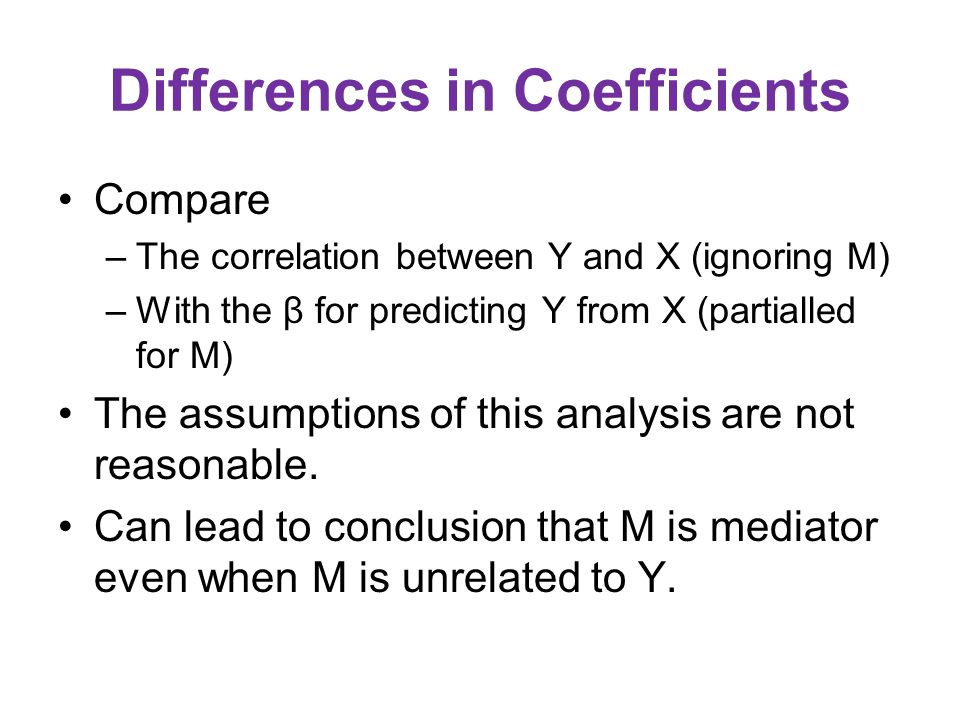 Differences in Coefficients