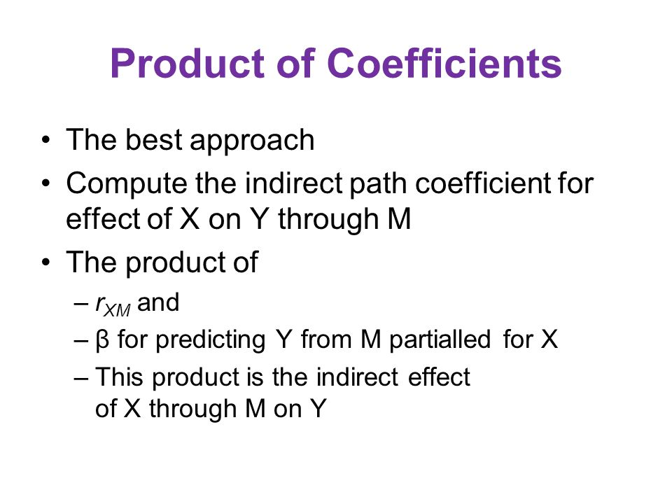 Product of Coefficients