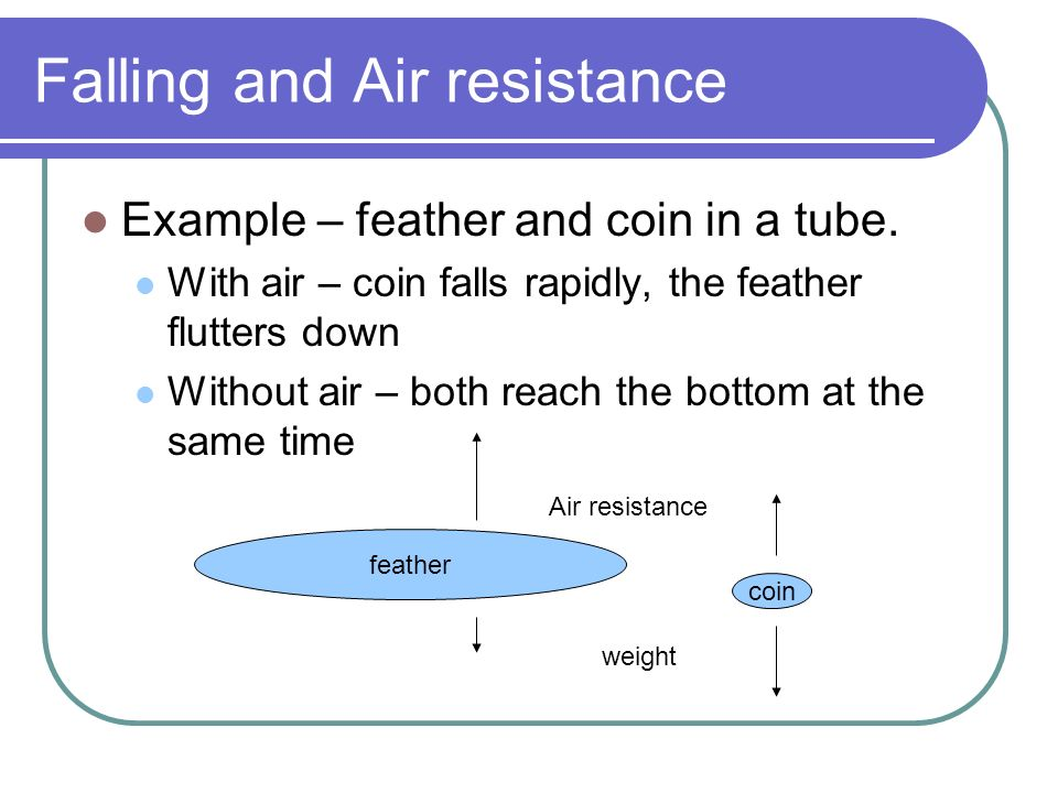 Falling and Air resistance