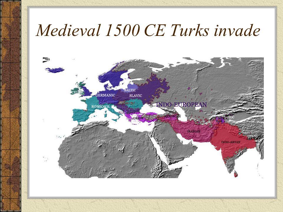 Medieval 1500 CE Turks invade