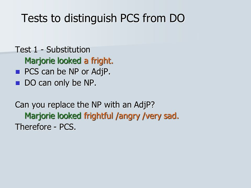 Tests to distinguish PCS from DO