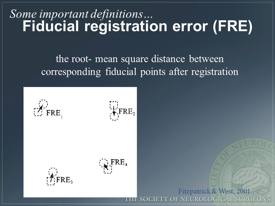 Fiducial registration error (FRE)