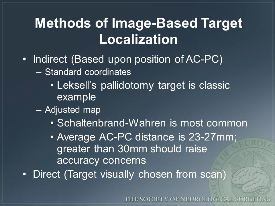 Methods of Image-Based Target Localization