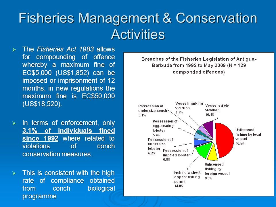 Fisheries Management & Conservation Activities