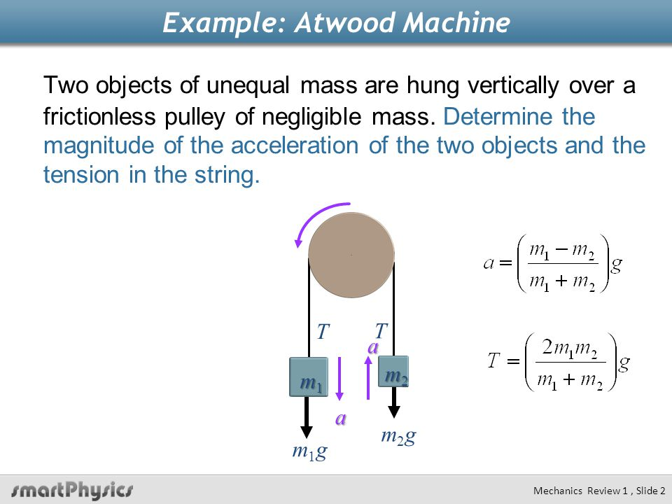 Example: Atwood Machine