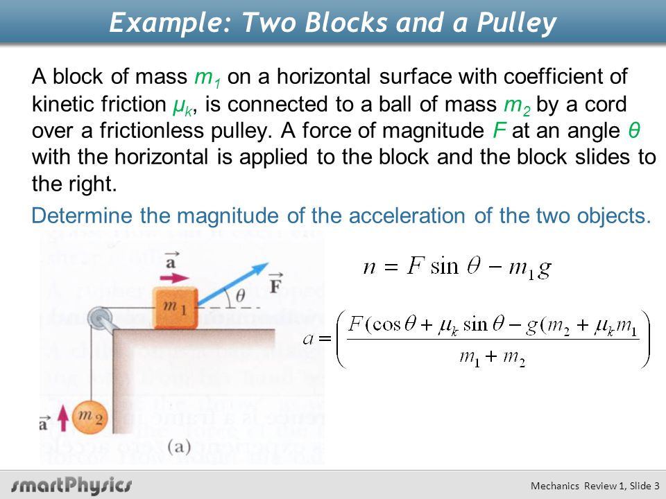Example: Two Blocks and a Pulley