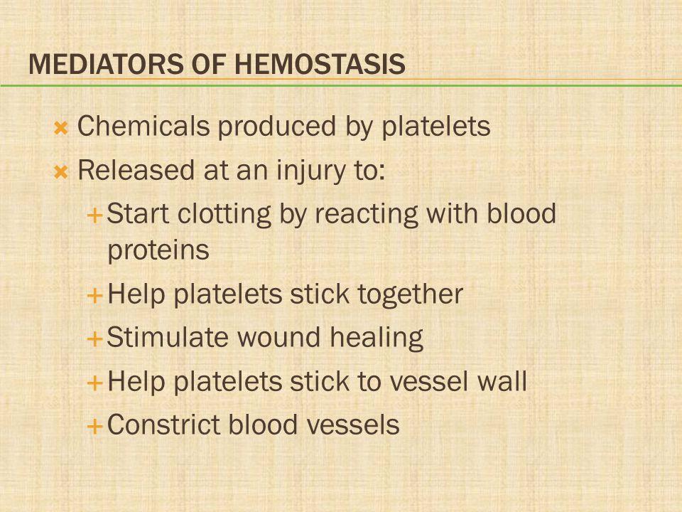 Mediators of Hemostasis
