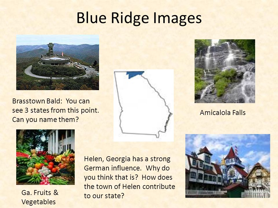 Blue Ridge Images Brasstown Bald: You can see 3 states from this point. Can you name them Amicalola Falls.
