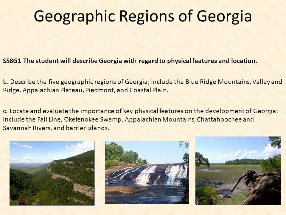 Geographic Regions of Georgia