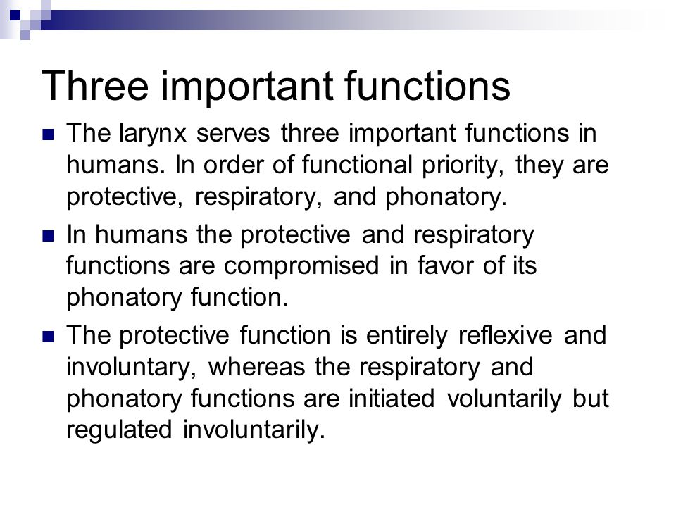 Three important functions
