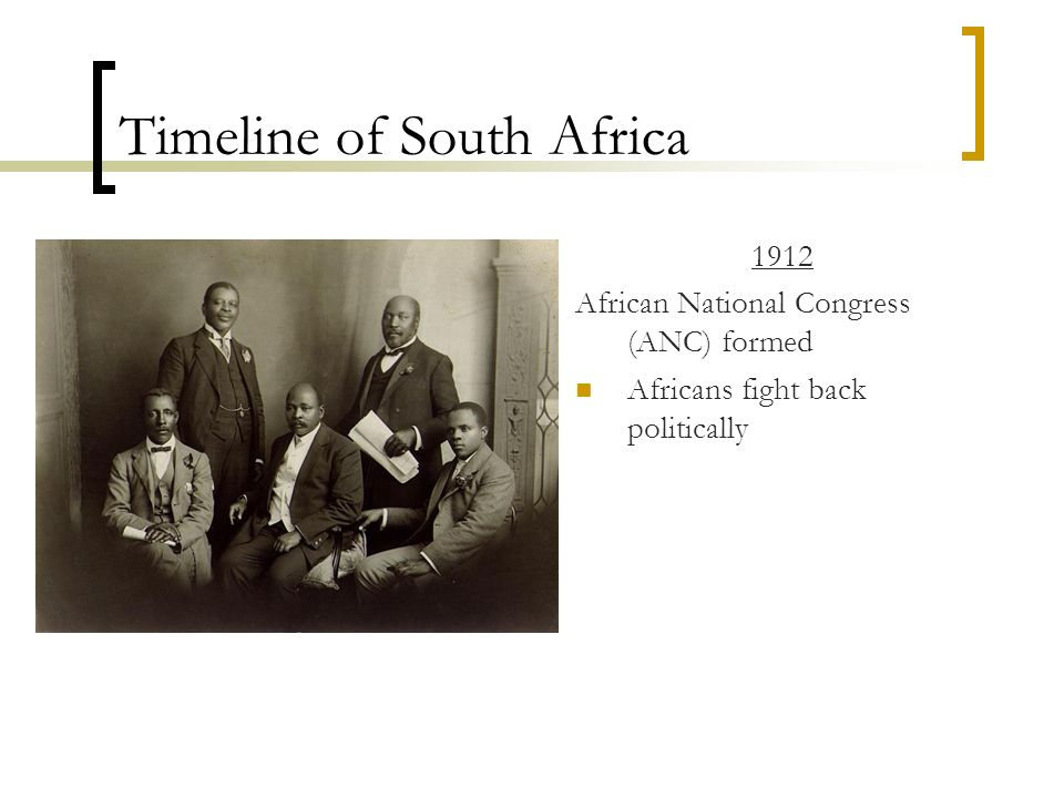 Timeline of South Africa