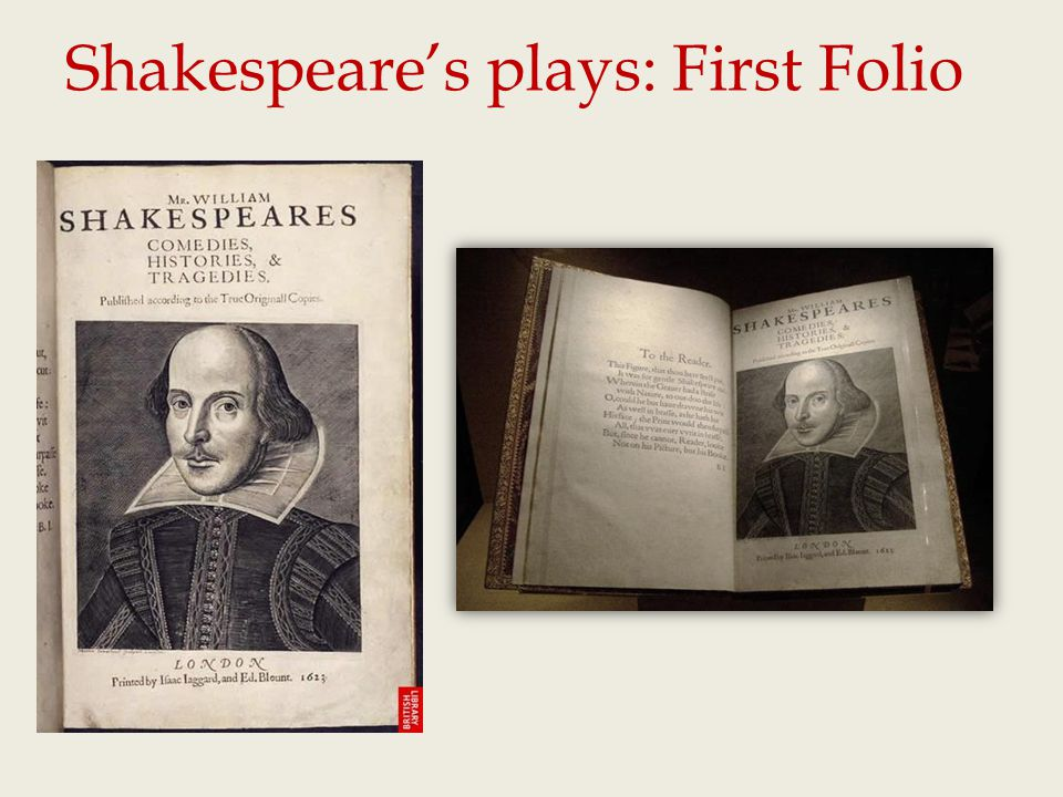 Shakespeare's plays: First Folio