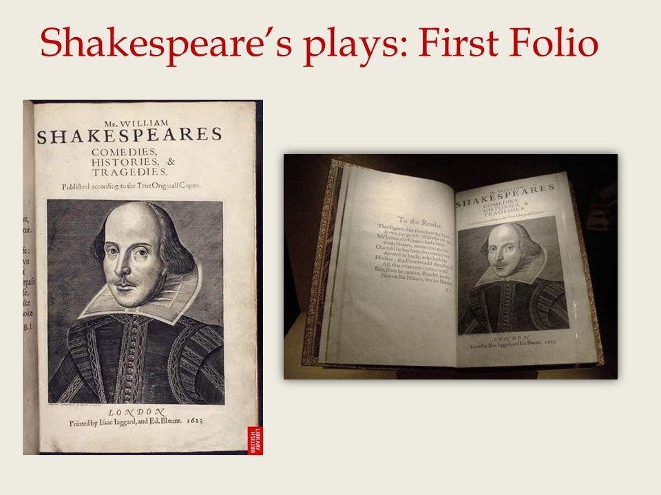 Shakespeare's plays: First Folio