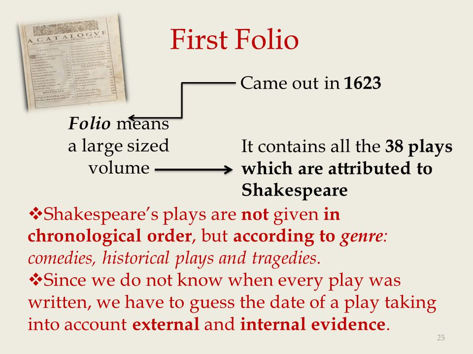 Folio means a large sized volume