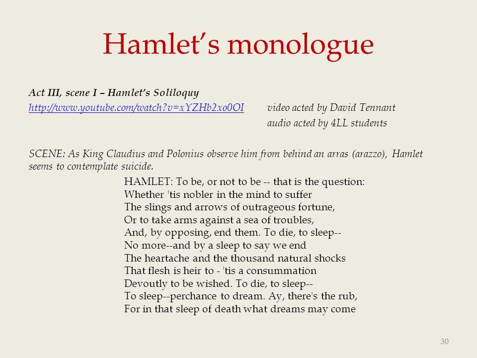 Hamlet's monologue
