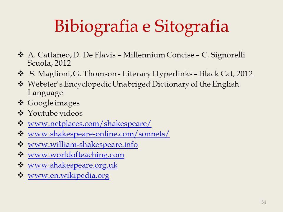 Bibiografia e Sitografia