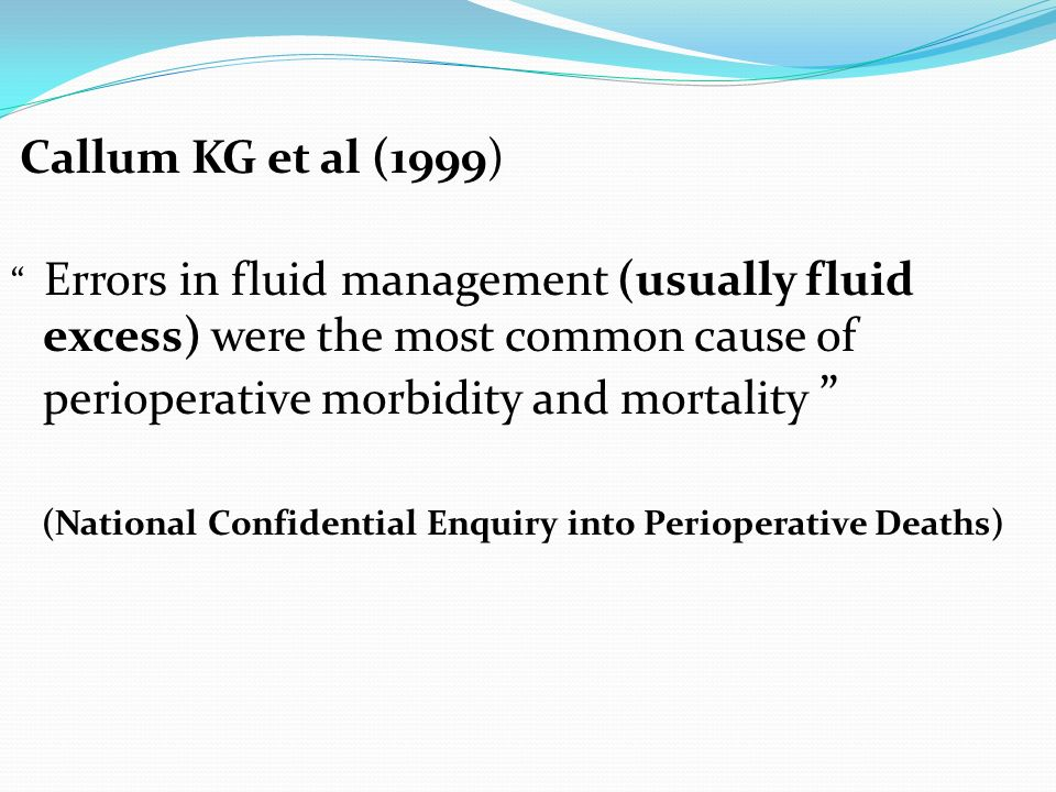 (National Confidential Enquiry into Perioperative Deaths)