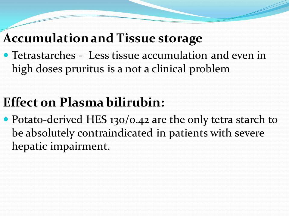 Accumulation and Tissue storage