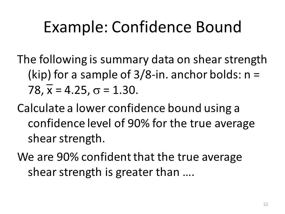 Example: Confidence Bound