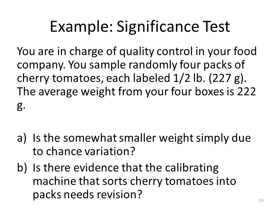 Example: Significance Test