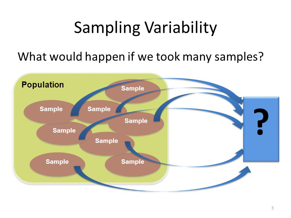Sampling Variability What would happen if we took many samples