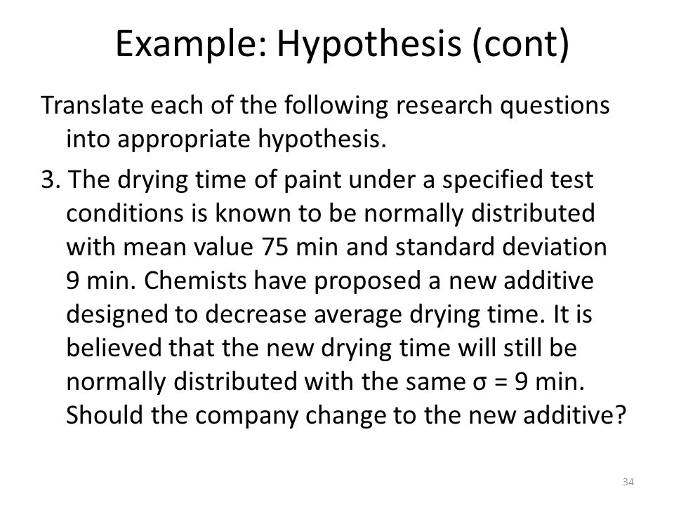 Example: Hypothesis (cont)