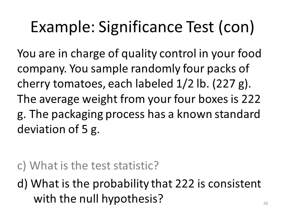 Example: Significance Test (con)