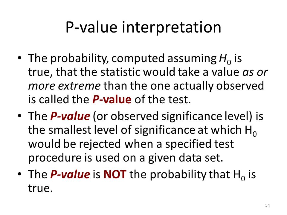 P-value interpretation