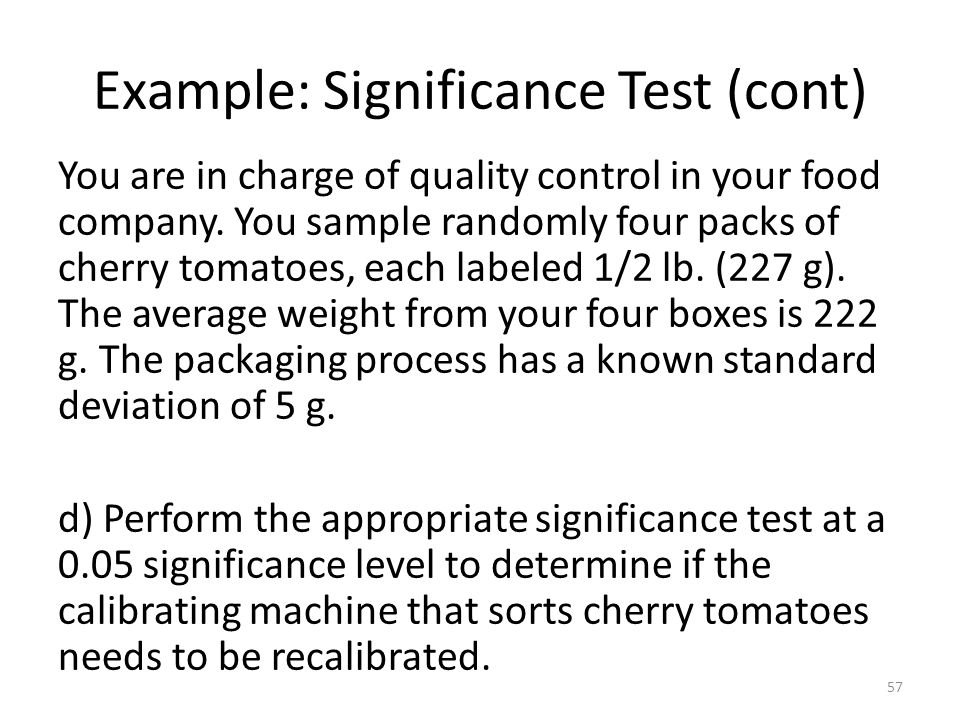 Example: Significance Test (cont)