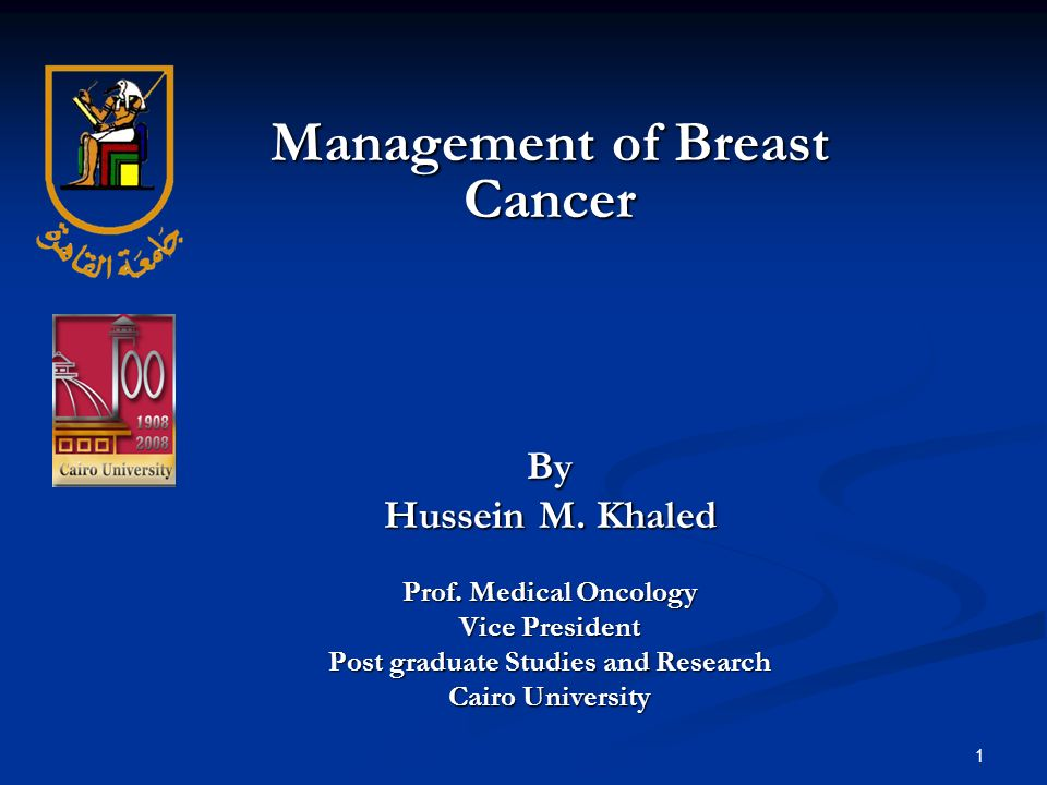 Management of Breast Cancer Post graduate Studies and Research