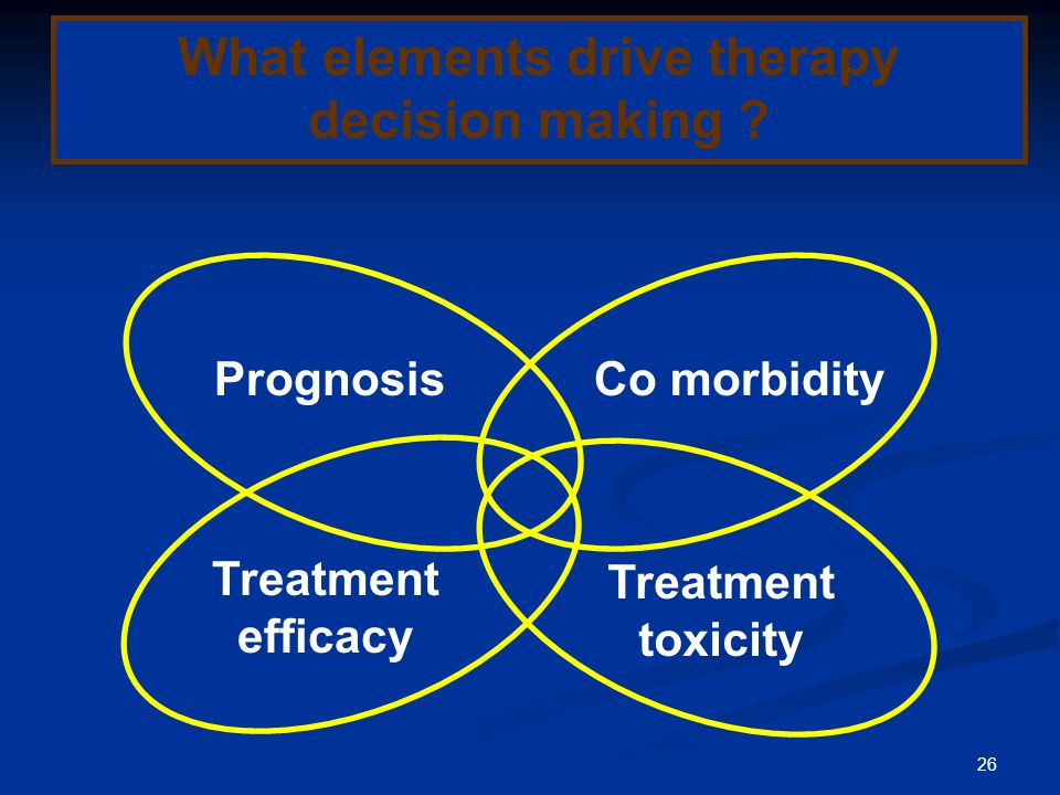 What elements drive therapy decision making