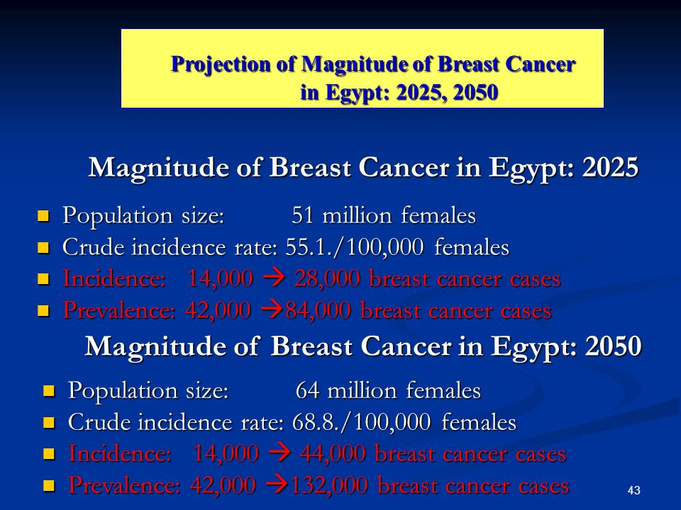 Magnitude of Breast Cancer in Egypt: 2025