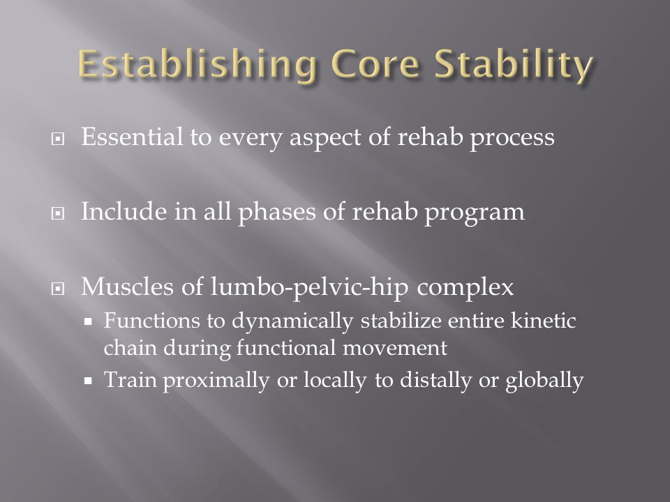 Establishing Core Stability