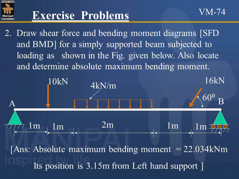 VM-74 Exercise Problems.