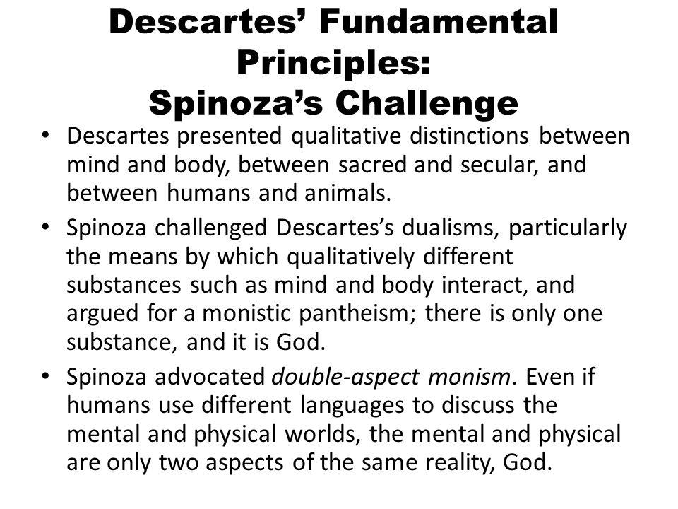 Descartes' Fundamental Principles: Spinoza's Challenge