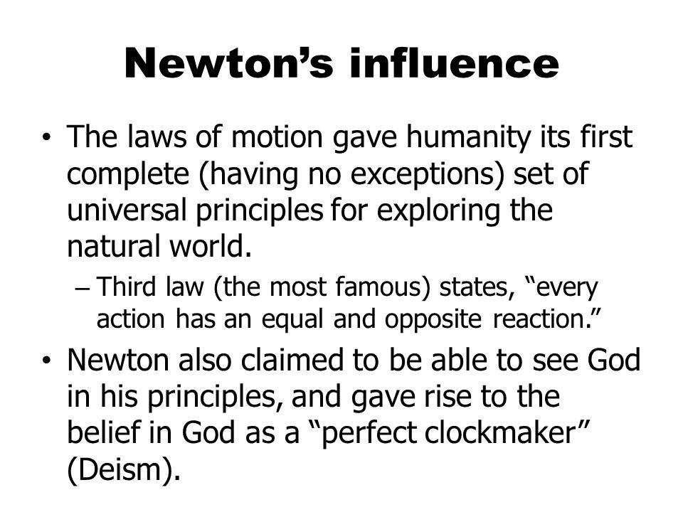 Newton's influence