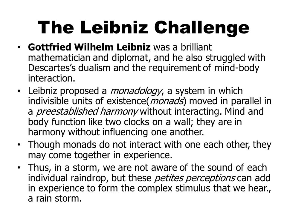 The Leibniz Challenge