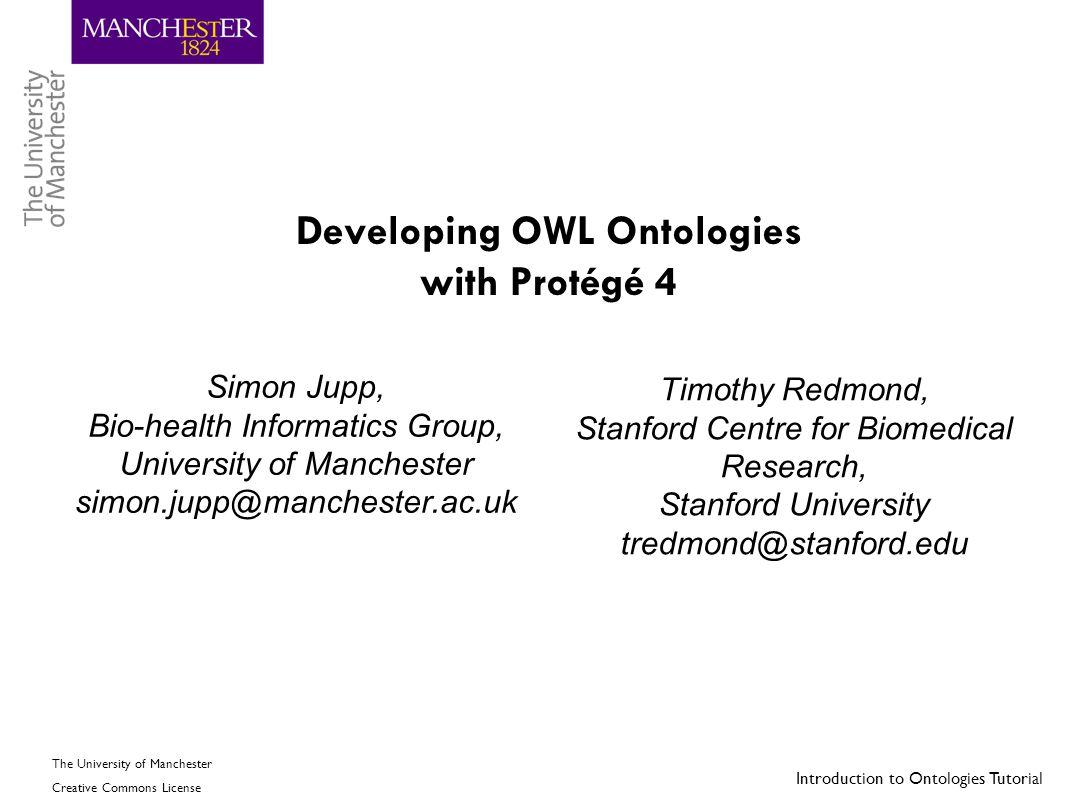 Developing OWL Ontologies with Protégé 4