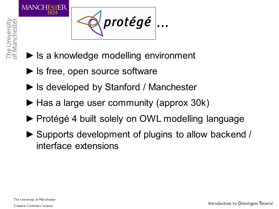 … Is a knowledge modelling environment Is free, open source software