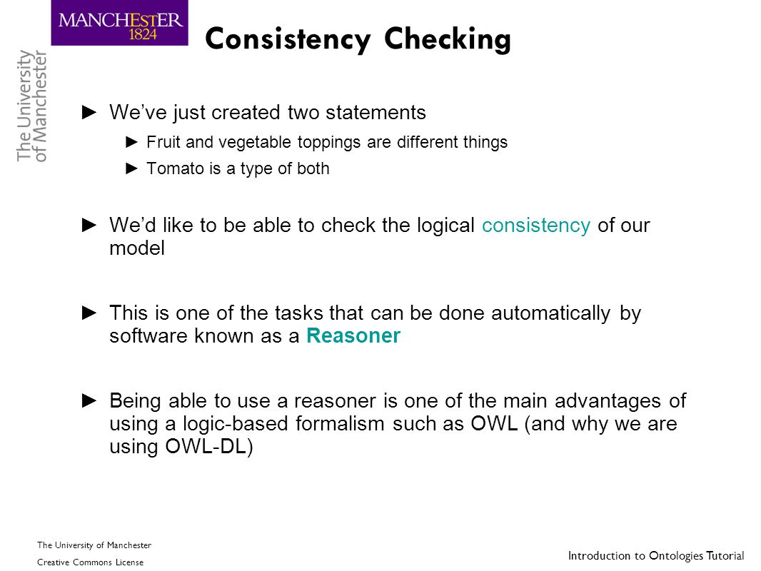 Consistency Checking We've just created two statements