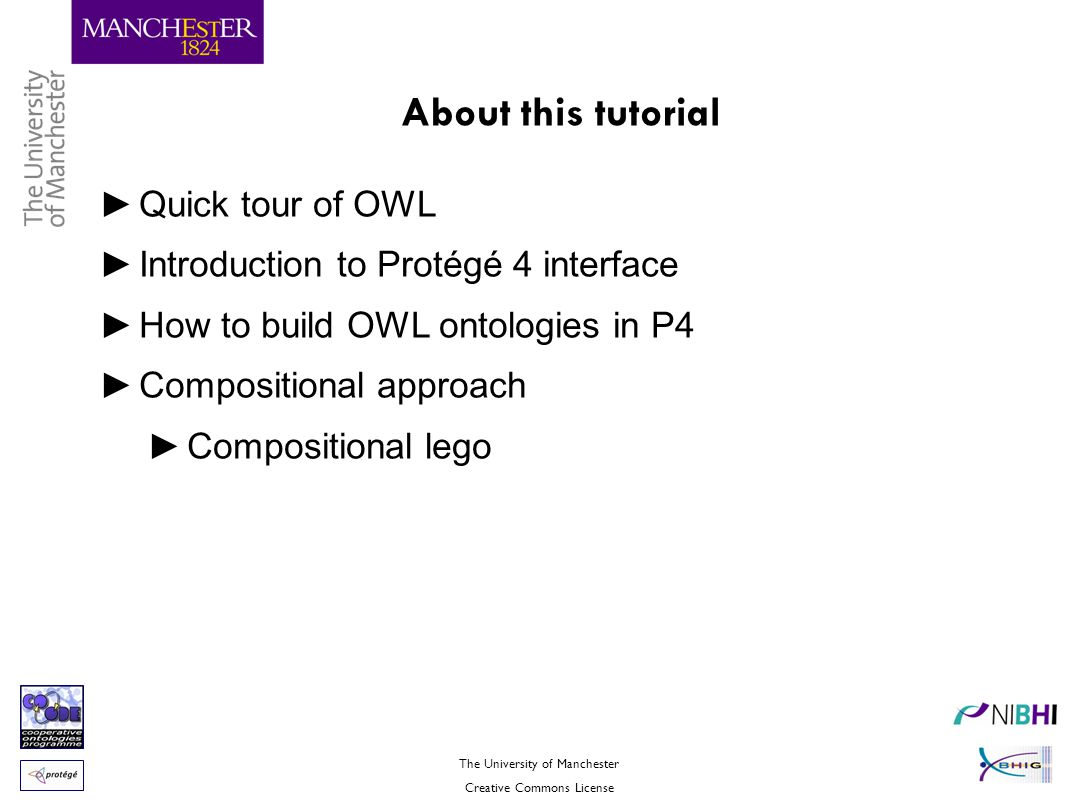 About this tutorial Quick tour of OWL