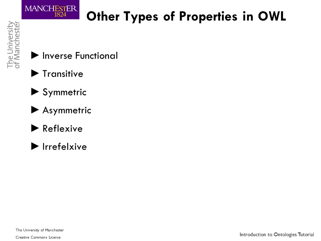 Other Types of Properties in OWL