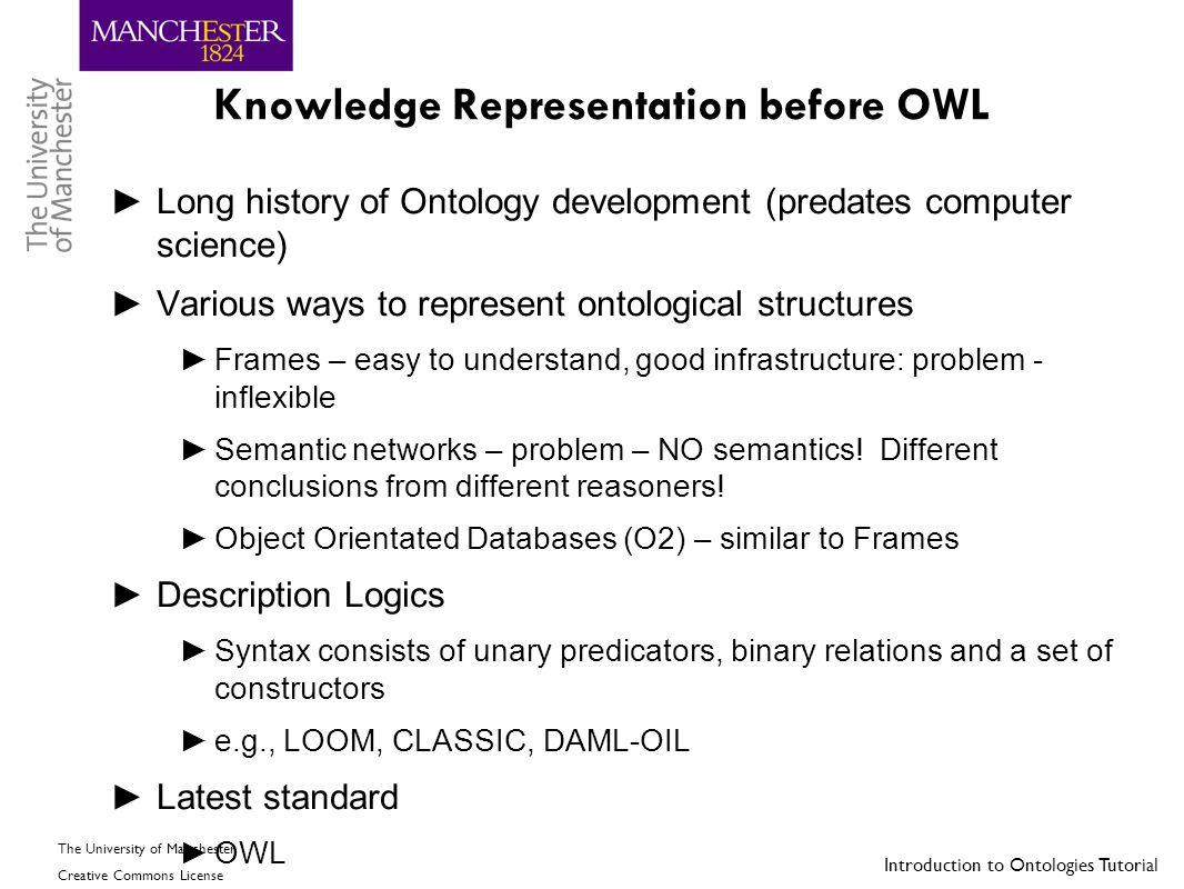 Knowledge Representation before OWL