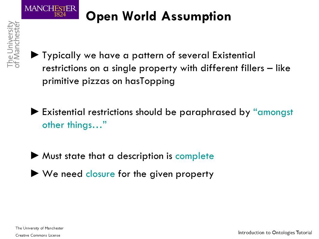 Open World Assumption