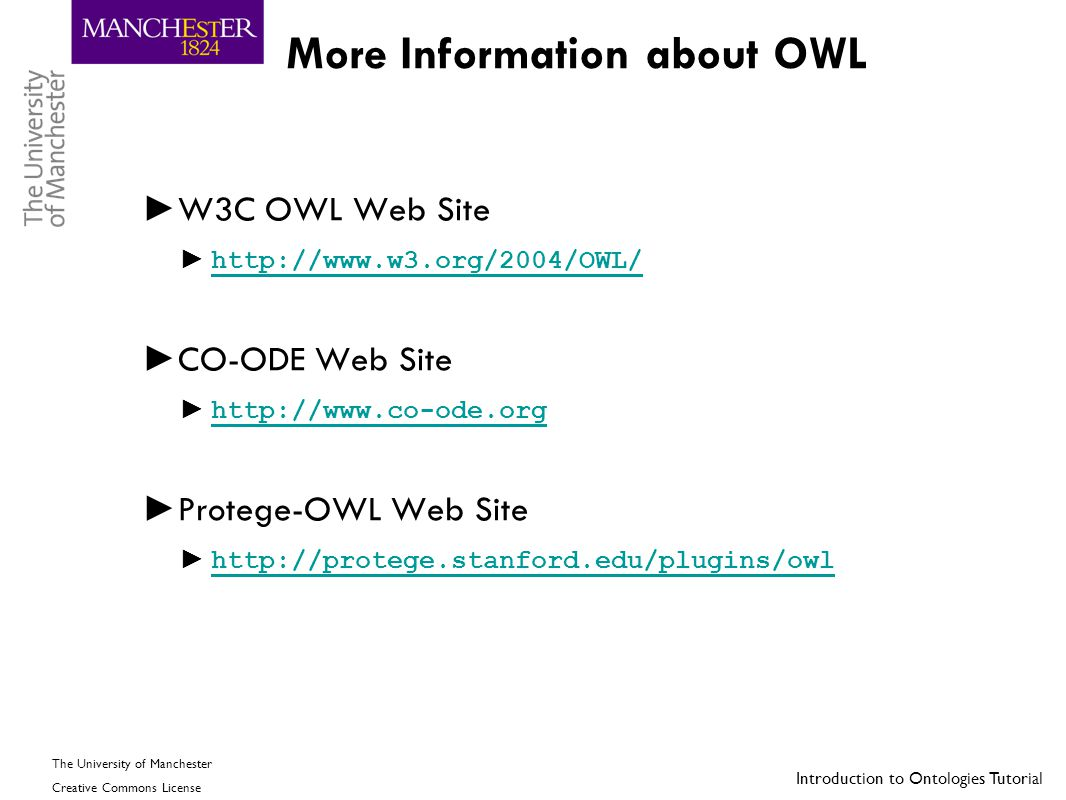 More Information about OWL