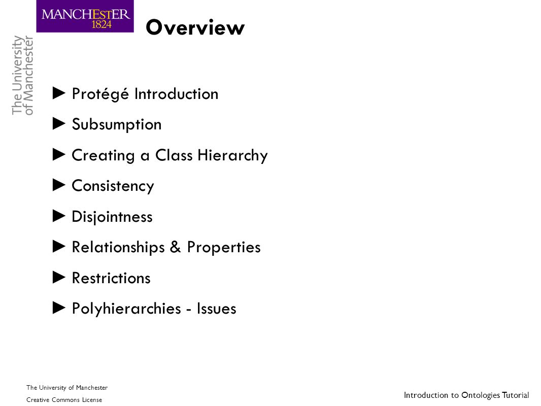 Overview Protégé Introduction Subsumption Creating a Class Hierarchy