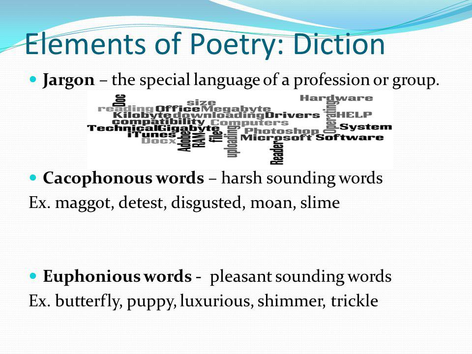 Elements of Poetry: Diction