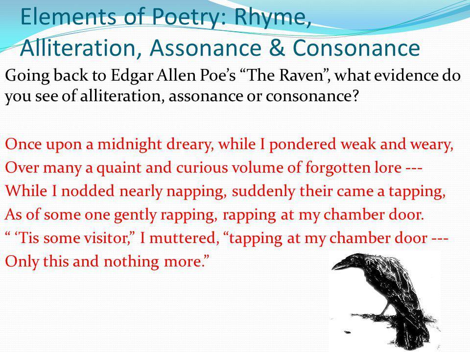Elements of Poetry: Rhyme, Alliteration, Assonance & Consonance