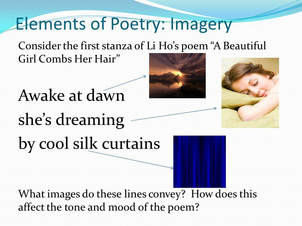 Elements of Poetry: Imagery